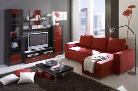 Small Family Room Ideas Red Couches For Small Family Room With Built In Tv Cabinet Ideas