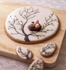 cuisine de paques sablés arbres et nid de pâques diy photo en é pas à pas