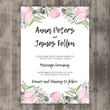 floral wedding invitations floral wedding invitation template on wood vector free
