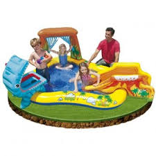 inflatable water slide park backyard bounce house jump splash pool