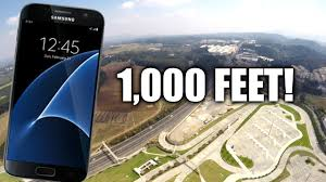 samsung galaxy s7 drop test from 1 000 feet youtube