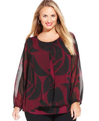 alfani blouses alfani plus size printed semi sheer tiered blouse swire
