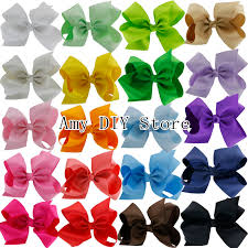 hair bows wholesale myamy 20pcs 6 inches hair bows grosgrain ribbon bow with alligator
