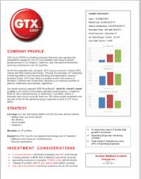 Locksmith Resume Investor Relations Gtx Corp