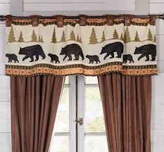 Rustic Curtains And Valances Woodland Trails Bear Valance