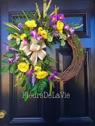 Grapevine Floral Design Home Decor The 38 Best Summer Floral Grapevine Wreaths Images On Pinterest
