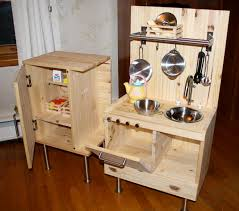 Pretend Kitchen Furniture Kitchen Awesome Wooden Childrens Kitchen Set Wooden Childrens