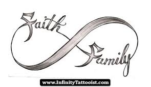 faith and family in infinity symbol