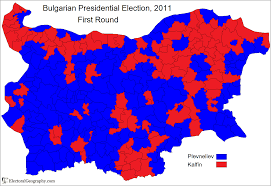 Presidential Election Map by Bulgaria Presidential Election 2011 Electoral Geography 2 0