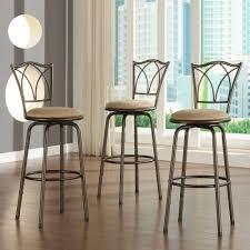 ballard designs constance bentwood stools by ballard designs adjustable height brown swivel cushioned bar stool set of 3