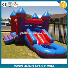 inflatable bouncy castle with water slide inflatable bouncy