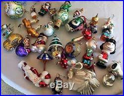 christopher radko vintage glass ornaments lot of 56
