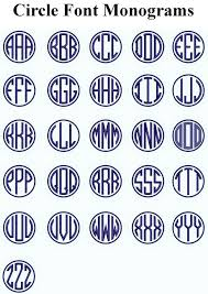 Initial Monograms Embroidered Circle Font Name Initial Monogram Iron On Patch Khaki