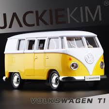 volkswagen yellow car vehicle retro volkswagen t1 van retro bus model miniature items