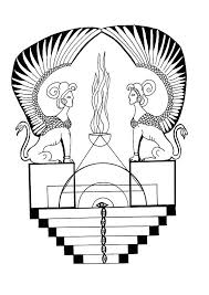 egyptian sphinx mandala coloring pages hellokids com