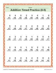 addition timed 0 5 math worksheets