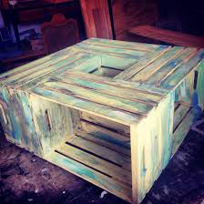 Wine Crate Coffee Table Diy by Crate Coffee Table For A Fun Living Room Design