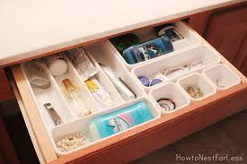 Organize Bathroom Cabinet by Bathroom Vanity Organization How To Nest For Less