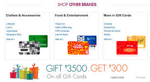 shoppers stop gift card 10 buy top brands gift vouchers get rs 450 india gift card