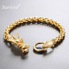 bracelet fashion design images Buy starlord men bracelet chinese dragon jpg