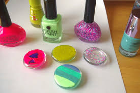 glass gems nail polish u003d kid friendly refrigerator magnets
