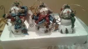 3 home interiors christmas ornaments snowman set 3 u201d tall resin