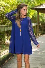 victoria swing dress royal blue the mint julep boutique