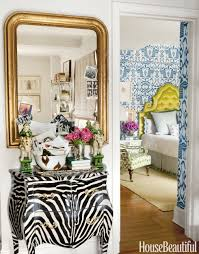 How To Decorate A Side Table by Lindsey Coral Harper U0027s New York Apartment Colorful Decorating