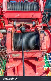 sling wire drum crane offshore stock photo 450277288