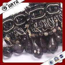 Beaded Fringe For Curtains Black Fringe Trim Source Quality Black Fringe Trim From Global