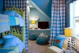 gingham curtains cottage boy u0027s room hgtv