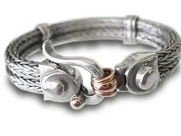 mens silver jewelry bracelet images Silver braided stud bracelet mens silver bracelet braided etsy jpg