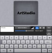 artstudio tutorial ios linen texture with embossed text