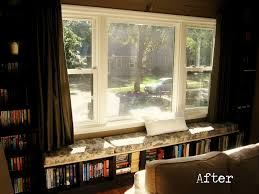 Built In Bookshelves With Window Seat Window Seat With Bookshelves Bay Window Seating Idea Bay Window