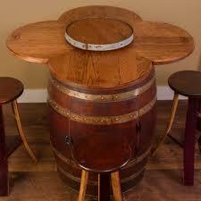 Wine Barrel Patio Table Reclaimed Wine Barrel Tables Wayfair