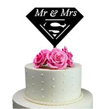 superman wedding cake topper made in usa personalized cake toppers sugaryeti