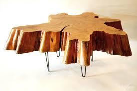 coffee table best wood stump coffee table design ideas tree slab