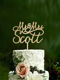 wedding cake topper mr and mrs last name cake topper personalised