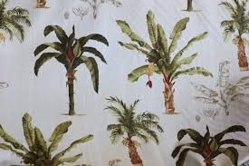 Palm Tree Upholstery Fabric Fabric Banana Palm Tree Print For Drapery Bedding
