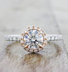 round halo rings images Maive round halo diamond engagement ring rose gold ken dana jpg