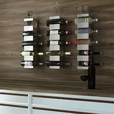industrial style wine rack wall mounted metal 5 bottle holder