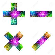 fuochi d artificio clipart un vettore di pi禮 meno moltiplicazione e simbolo di divisione