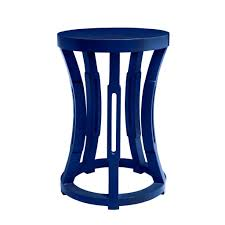 Navy Side Table Navy Hourglass Side Table Hive Home Gift And Garden