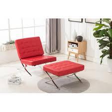 mcombo balcony barcelona style modern lounge chair and ottoman