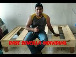 base de madera para cama individual base para cama individual sencilla youtube