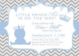 baby shower invitations stunning prince themed baby shower