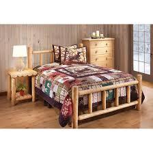 castlecreek cedar log bed king 235870 bedroom sets at