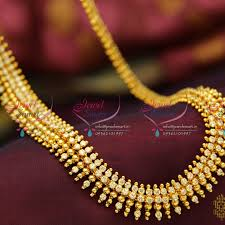 fashion long gold necklace images Nl3778 beads design ad white gold plated haram long necklace JPG