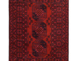 Red Tribal Rug Turkoman Rug Etsy