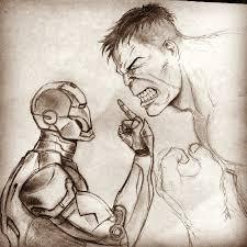 iron man vs hulk by fehg49 on deviantart